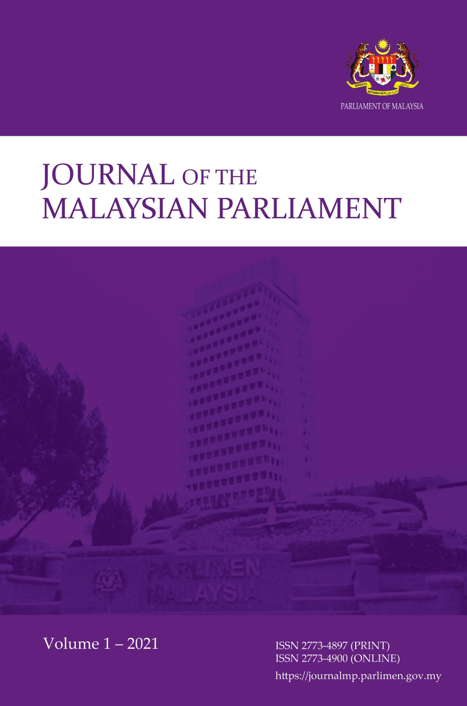 View Vol. 1 (2021): Journal of the Malaysian Parliament